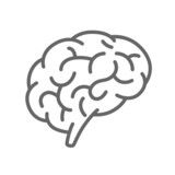 Silhouette of the brain on a white background - 77545290