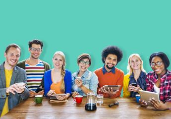 Diversity People Meeting Brainstorming Team Concept