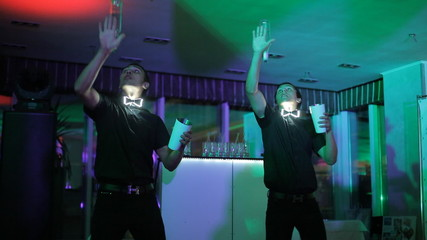 Shaw professional bartenders at the party