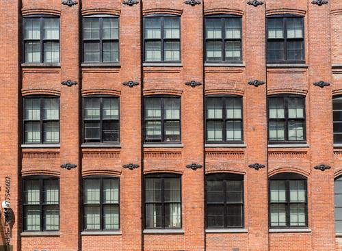 Brooklyn brickwall facades in New York
