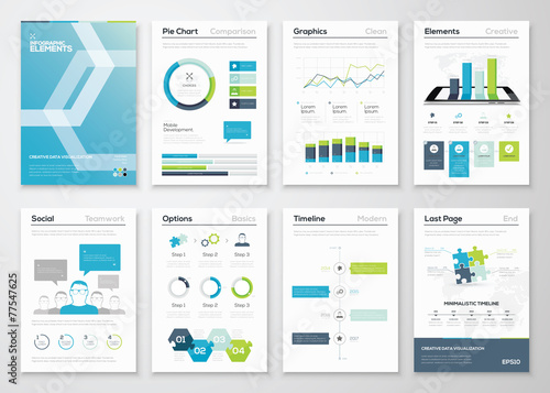Infographics flyer and brochure designs and web templates vector - 77547625