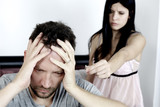 Fototapety Man desperate about woman breaking up
