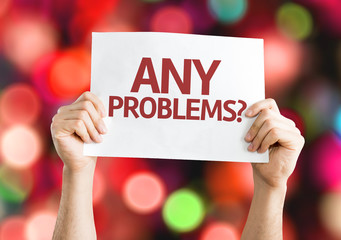 Any Problems? card with colorful background