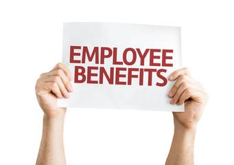 Employee Benefits card isolated on white background