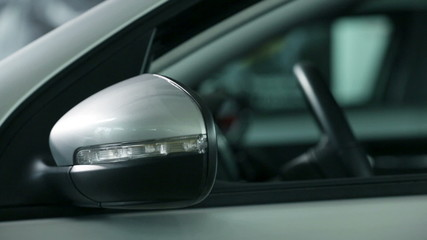 Side shot of the car mirror
