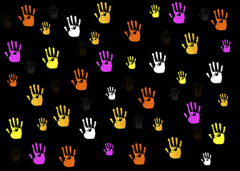 hands shapes background