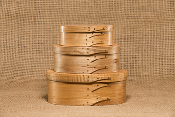 Three Hand Made Shaker Boxes