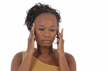 femme noire souffrant