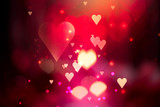 Fototapety Valentine Hearts Abstract Background. St.Valentine's Day