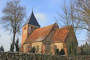 Zettemin: Gotische Dorfkirche (13. Jh., Mecklenburg-Vorpommern)