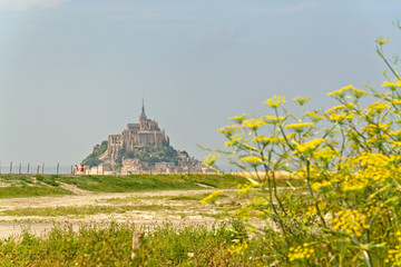 Scenic view of Mont St Michel