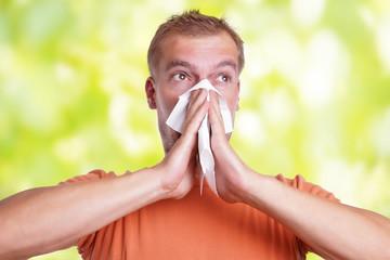 Schnupfen - Nase putzen