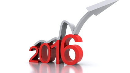Video 3d animation - new year with up arrow