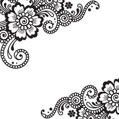 Flower vector ornament corner