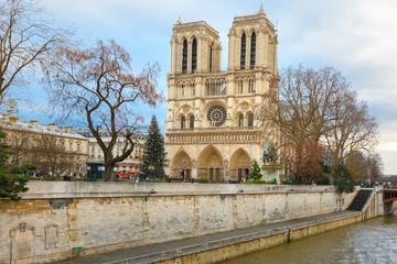 Cathedral of Notre Dame de Paris at Christmas