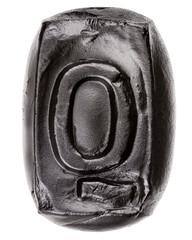 Handmade ceramic letter Q