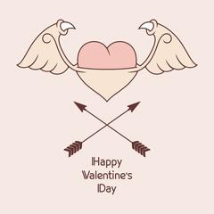 Evil Heart / Vector illustration
