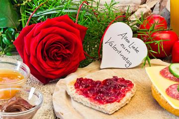 Frühstück zum Valentinstag