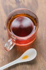 Glass of tea break