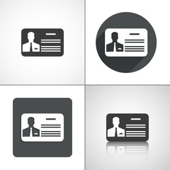 Business card icons. Set elements for design