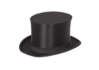 Alte Zylinder. Black top hat on white