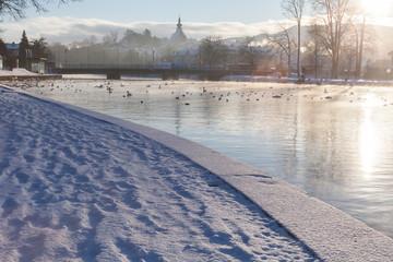 Schloss Kammer Attersee Winter