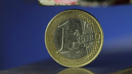 Euro under Pressure - Euro coin in a vice - 60 fps