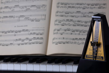 metronome and music paper