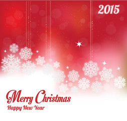 Glowing Christmas Background and Greeting Card