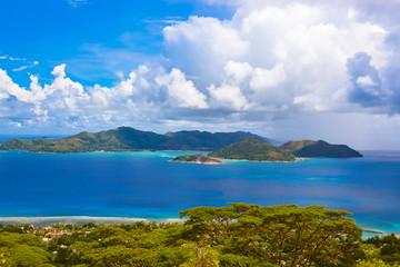 Island Praslin at Seychelles