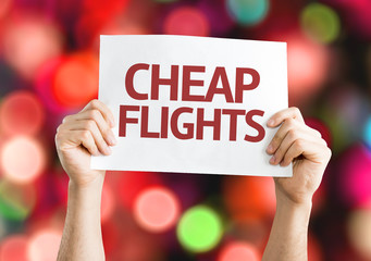 Cheap Flights card with colorful background
