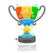 Cup winner with icons puzzle