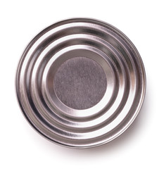 Top view of closed tin can