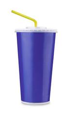 Blue paper cup