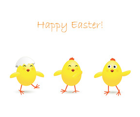 Three Easter chicken