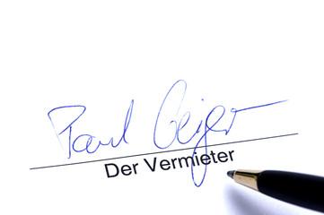 Unterschrift der Vermieter