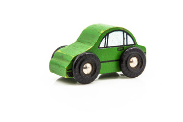 Wooden Green Car Toy