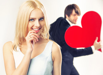 Portrait of the valentine's couple