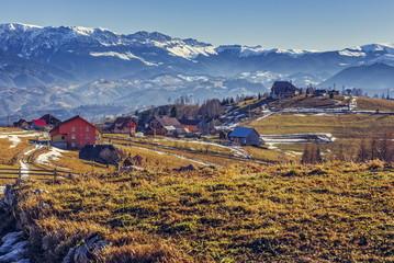 Rural mountain landscape, Pestera village, Romania