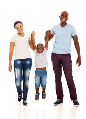 young african family having fun