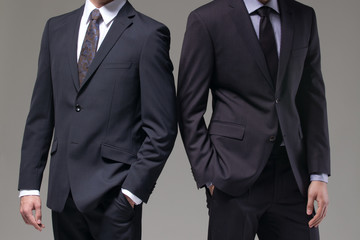 Two men in elegant suit