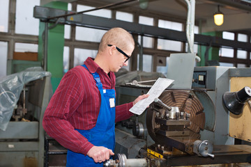 man works for Production Machine