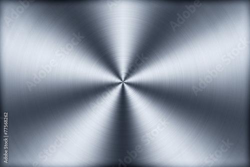 canvas print picture Kreisförmig gebürstetes Aluminium