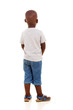 canvas print picture - rear view of young african boy