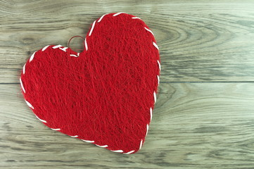 czerwone serce na walentynki