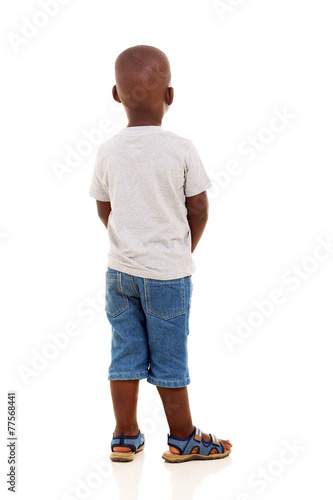 canvas print picture rear view of young african boy