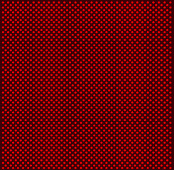 red pointed retro print fabric