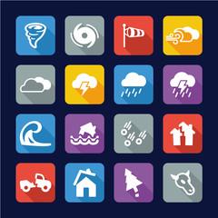 Tornado Icons Flat Design