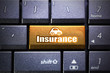 Car insurance button on the computer keyboard