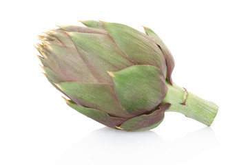 Artichoke isolated on white, clipping path